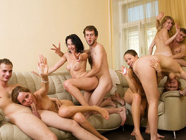 Party Time With Young College Sluts And Their Men